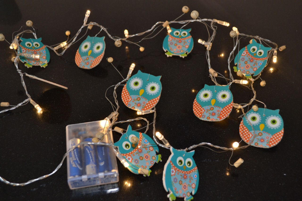 Childrens OWL Indoor String Night Light Bedroom Nursery Decor Baby Child Light eBay