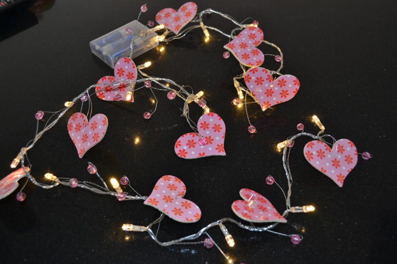 Children Heart Indoor String Night Light Bedroom Nursery Decor, Baby Child Light eBay