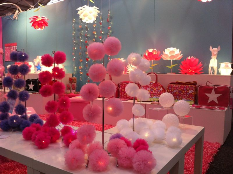 Girls Pink POM POM Indoor String Night Light Bedroom Decor Wedding ...