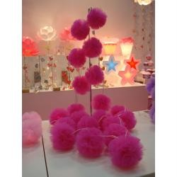 Baby Girls Pink Pom Pom Indoor String Night Light Bedroom Nursery Decor New!!! eBay