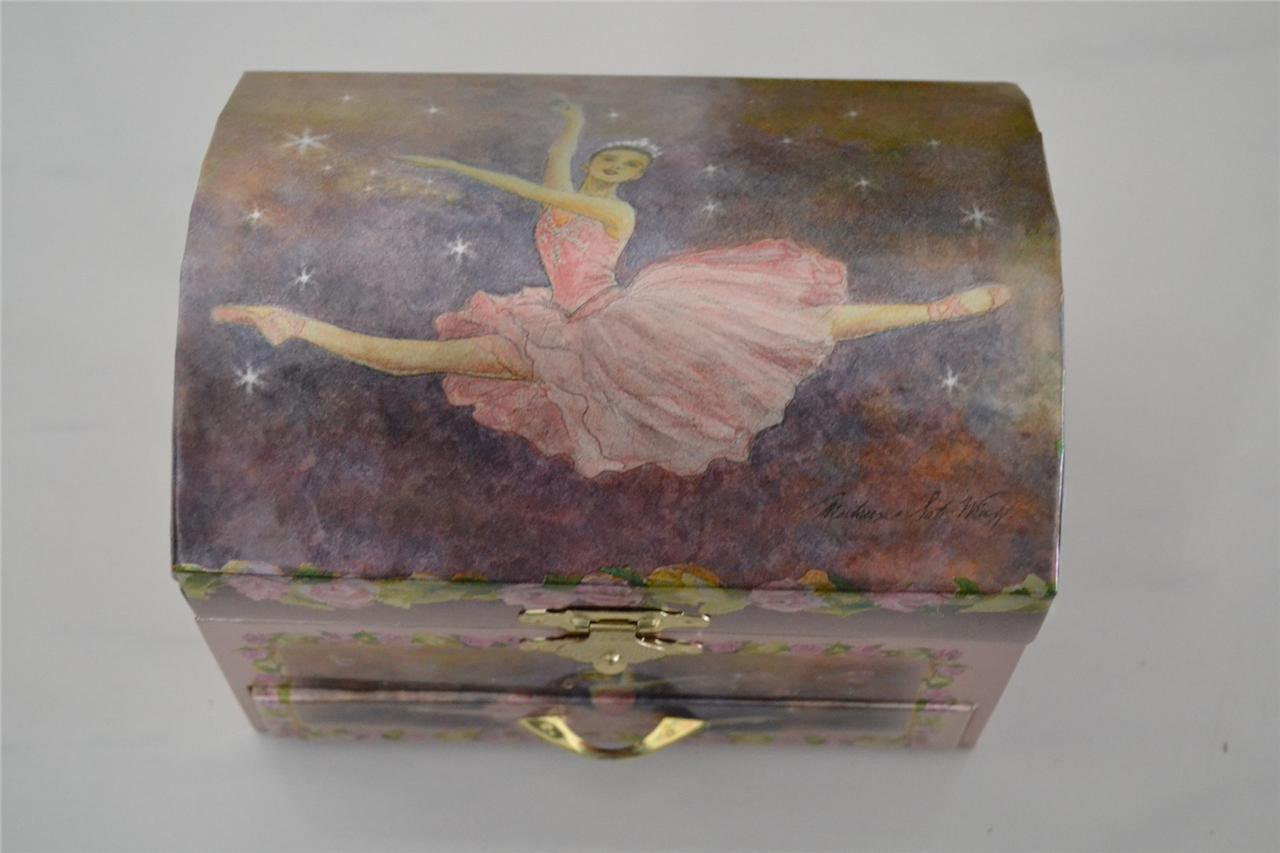 Gorgeous-Girls-Ballerina-Jewellery-Music-Box-Ballet-Dancer-with-Draw
