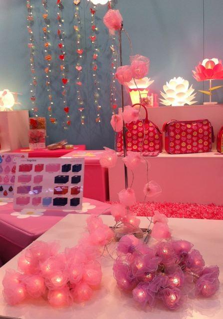 rose ribbon flower string night light bedroom nursery