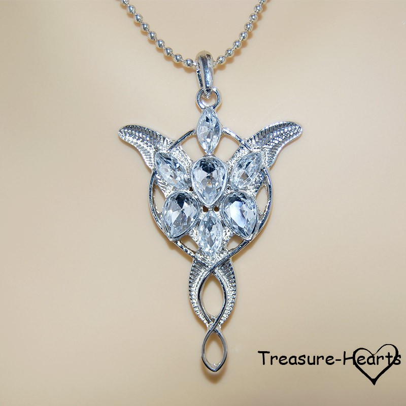 silver and elven necklace pendant arwen evenstar
