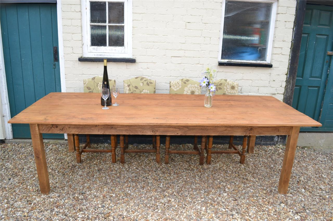 Hand made reclaimed Georgian pine 9ft farmhouse kitchen dining table Seats 8
