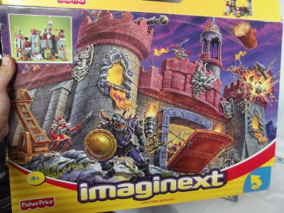 Fisher Price Imaginext battle castle knights cannons figures boxed instructions | eBay