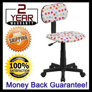 Best polka dot fun design office desk task chair for kids for Fun chairs for adults