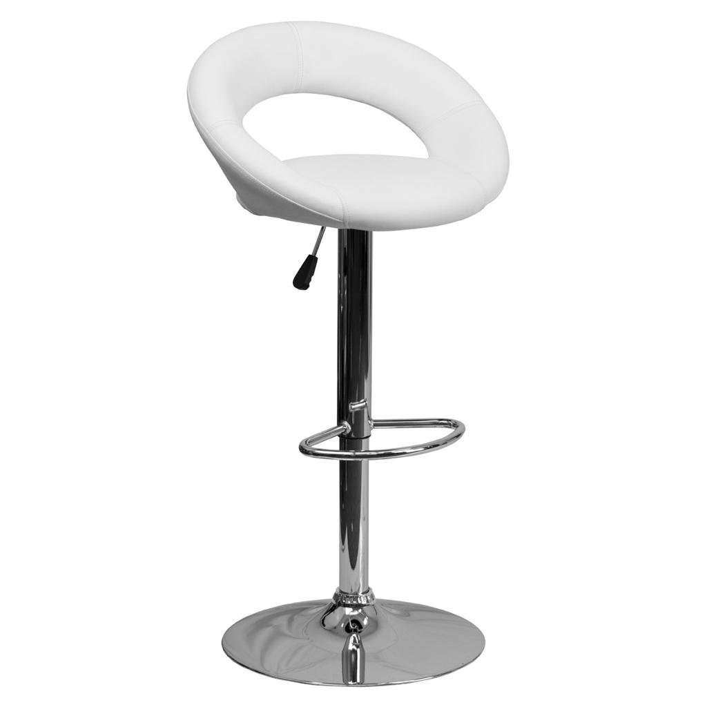 Unique modern adjustable height bar stool chrome swivel