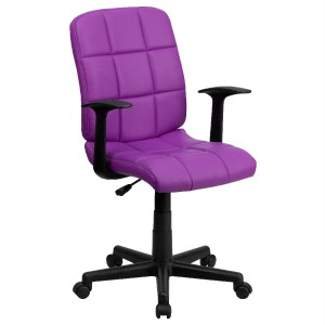 Best purple fun design office desk task computer chair for Fun chairs for adults