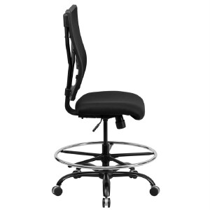 heavy duty big tall 400lb drafting stool office desk chair mesh back