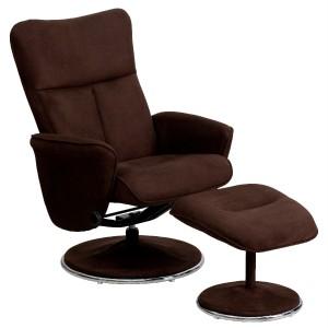 Best Overstuffed Luxury Brown Microfiber Recliner Lounge