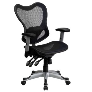 Adjustable Ergonomic Mid Back Mesh Office Desk Chair Lumbar Support Arms Swiv