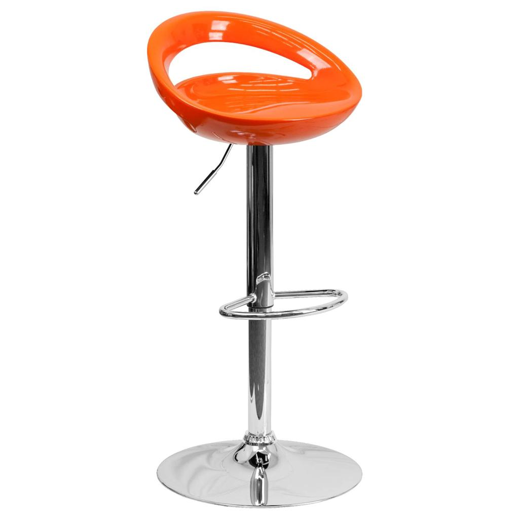 Modern Plastic Adjustable Height Metal Bar Stool Swivel