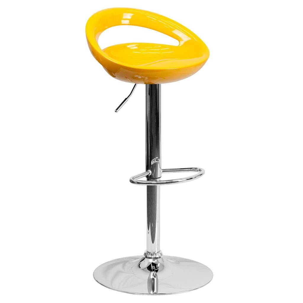 Modern Plastic Adjustable Height Metal Bar Stool Swivel