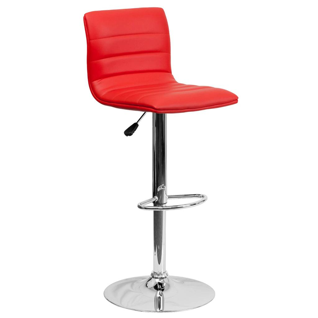 Unique Modern Adjustable Height Metal Bar Stool Swivel Color Diner Seat Chair