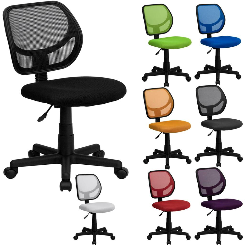 Best mid back mesh task desk computer office chair swivel for Colorful office furniture
