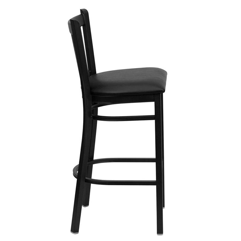 Heavy Duty Metal Bar Stool Vert Back Chair Kitchen  : 713872900o from www.ebay.com size 800 x 800 jpeg 23kB
