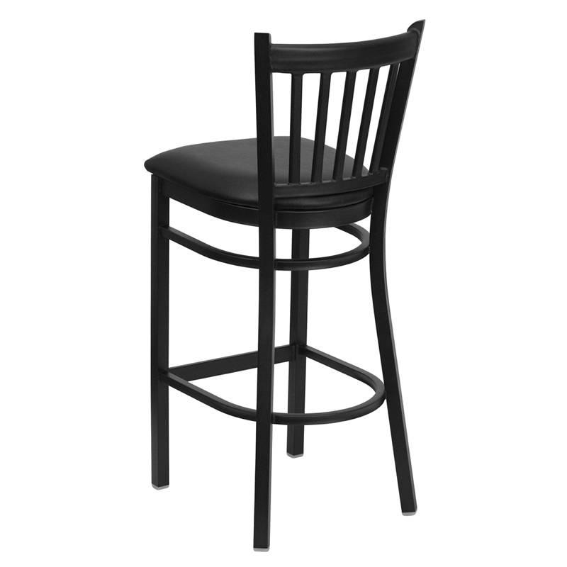 Heavy Duty Metal Bar Stool Vert Back Chair Kitchen  : 713872909o from www.ebay.com size 800 x 800 jpeg 30kB