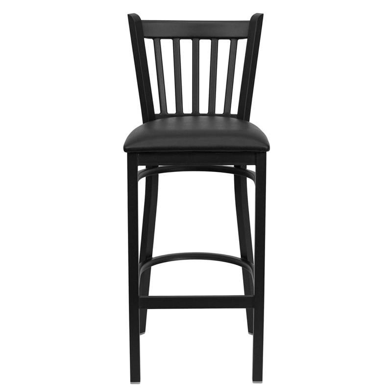 Heavy Duty Metal Bar Stool Vert Back Chair Kitchen  : 713872915o from www.ebay.com size 800 x 800 jpeg 27kB