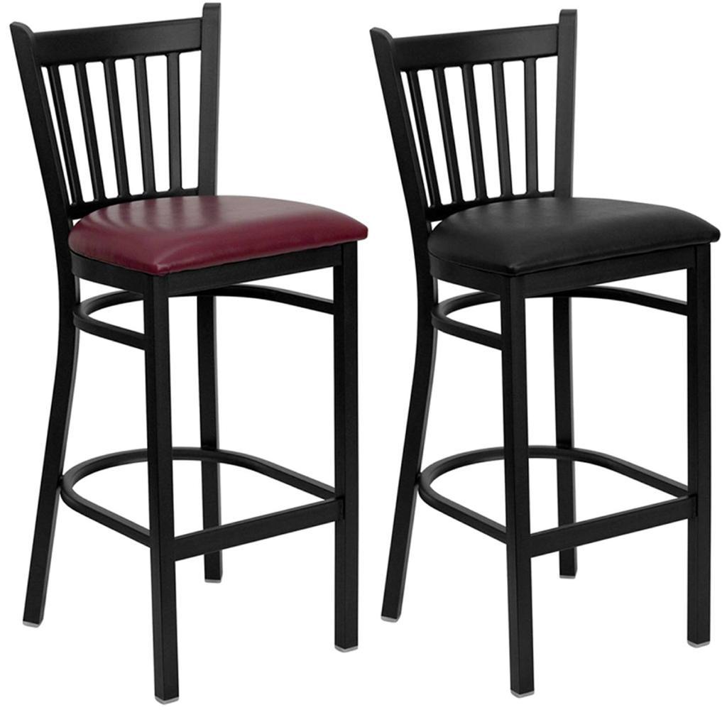 Heavy Duty Metal Bar Stool Vert Back Chair Kitchen Commercial Restaurant Seat Ebay