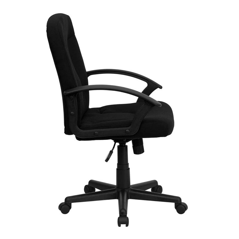 Best Executive Fabric Computer Office Desk Chair Comfort Mid Back Swivel Wheels