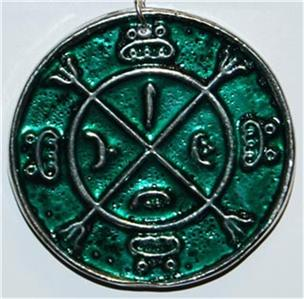 Circle Protection Amulet Pagan Wiccan Tailsman Charm | eBay