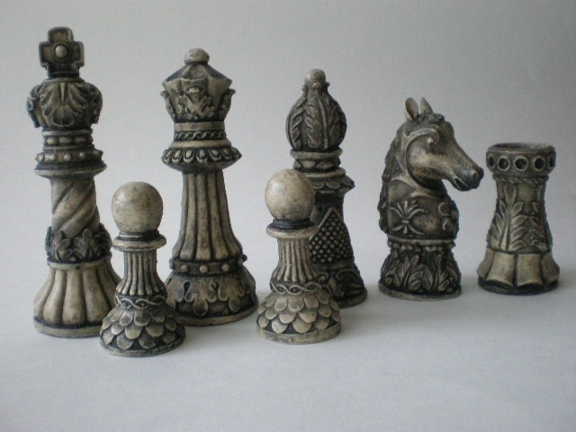 Ornate staunton resin chess set ebay - Ornate chess sets ...