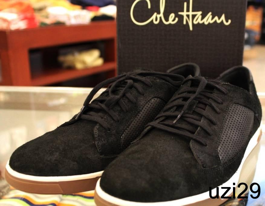 NIB-Cole-Haan-Air-Quincy-Lace-OX-Black-Suede-Shoes-with-Nike-Air-Sole-Mjust-See