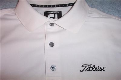 Titleist prodry footjoy golf shirt mens small white ebay for Footjoy shirts with titleist logo