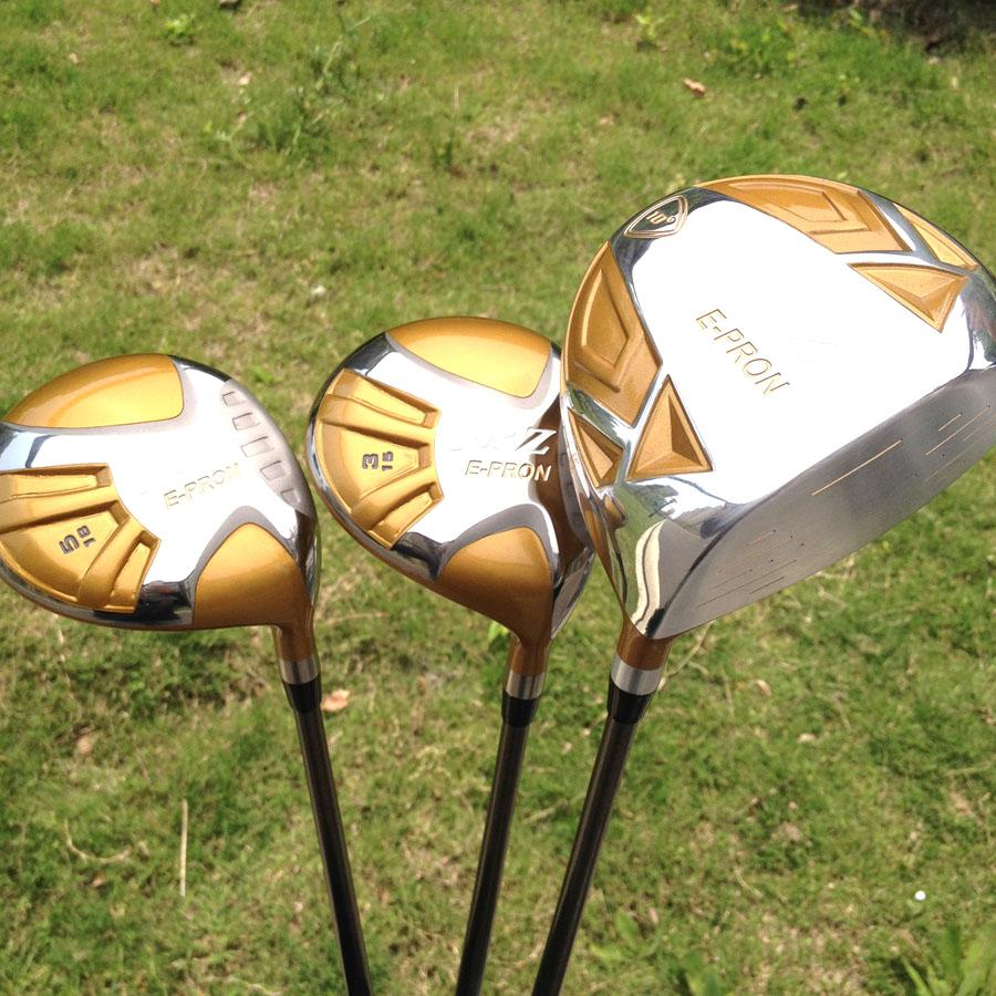 2014-JAPAN-NEW-E-PRON-JPZ-TITANIUM-10DEG-460-DRIVER-3-5-FAIRWAYS-CLUB-SET-GOLD