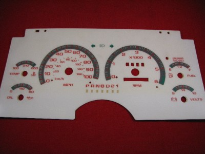 94 97 APC White Chevy S10 GMC S15 Blazer Jimmy Instrument Cluster
