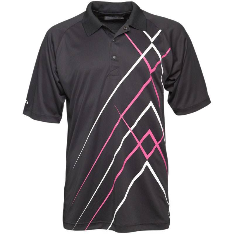 Ping mens golf polo shirt collection golf top black size l for Xxl mens polo shirts