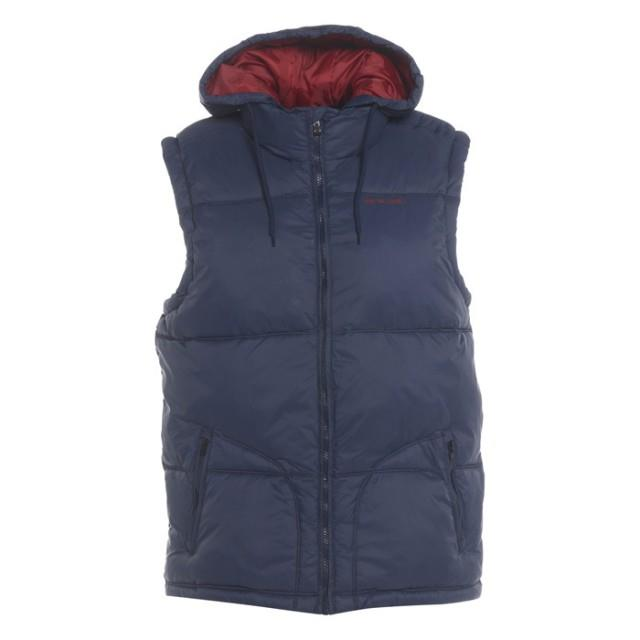 Animal-Mens-Hooded-Gilet-Padded-Bodywarmer-Blue-Quilted-Jacket-Coat-BNWT