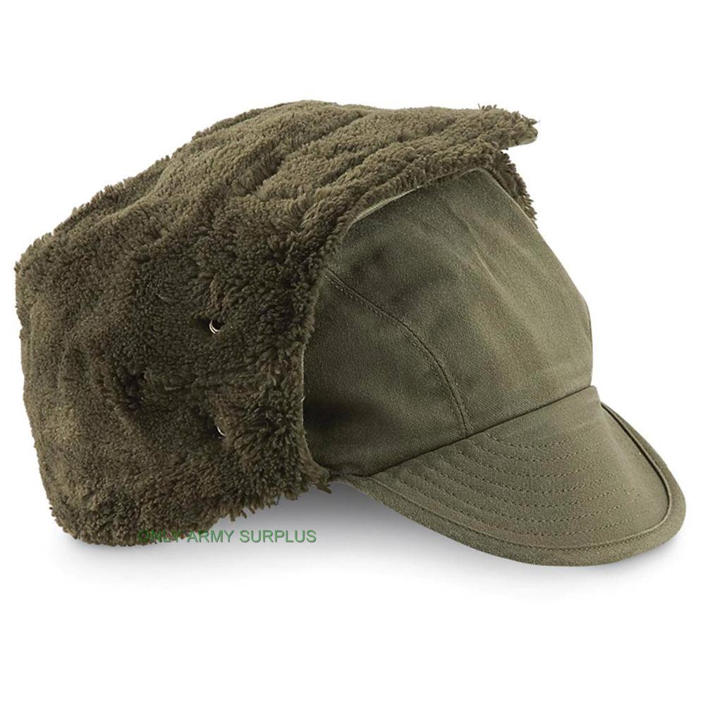Dutch Army Cold Weather Hat Winter Trapper Hat Olive Green ...