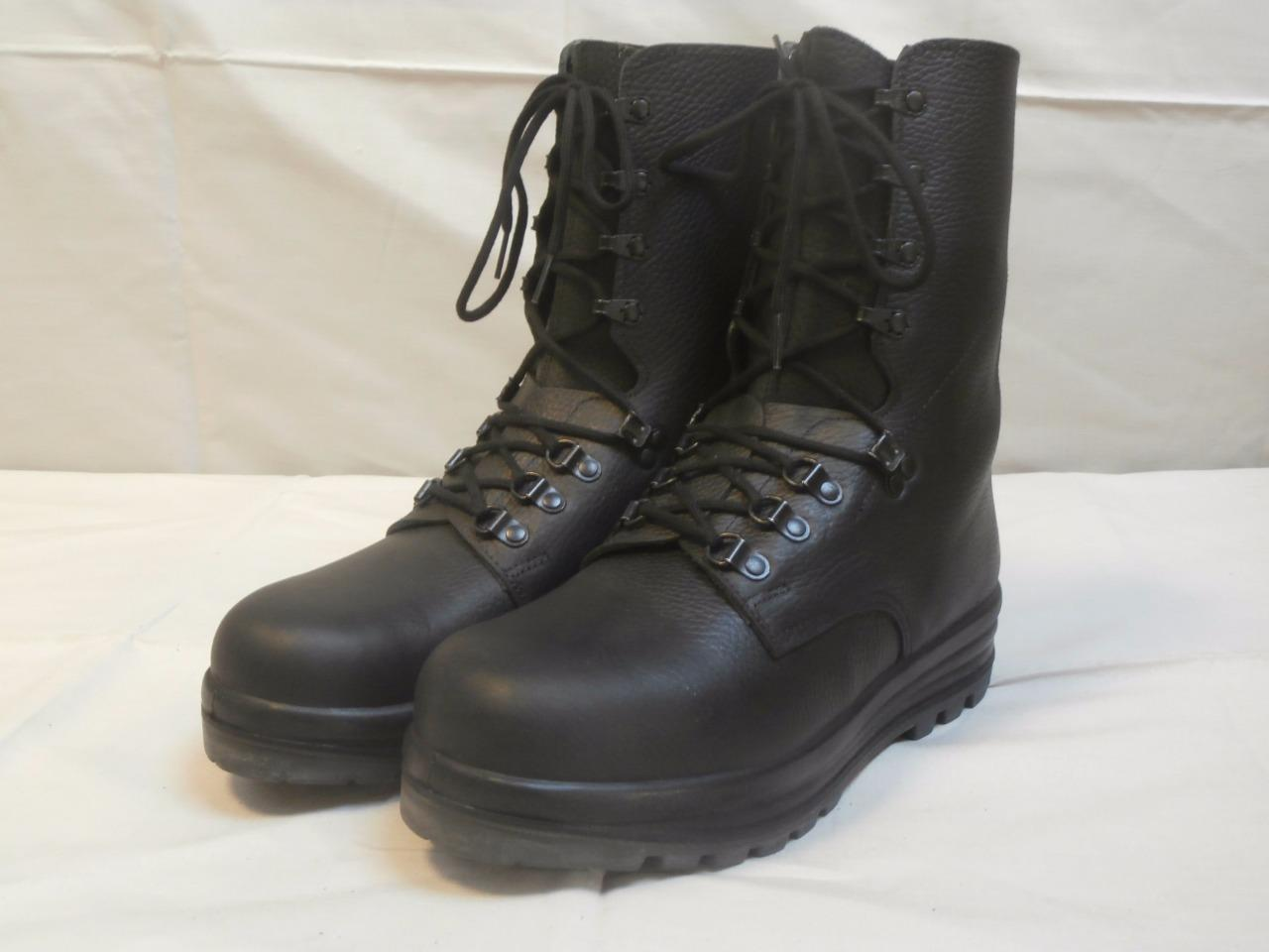 Swiss Army Para Boots New Black Leather Combat Assault