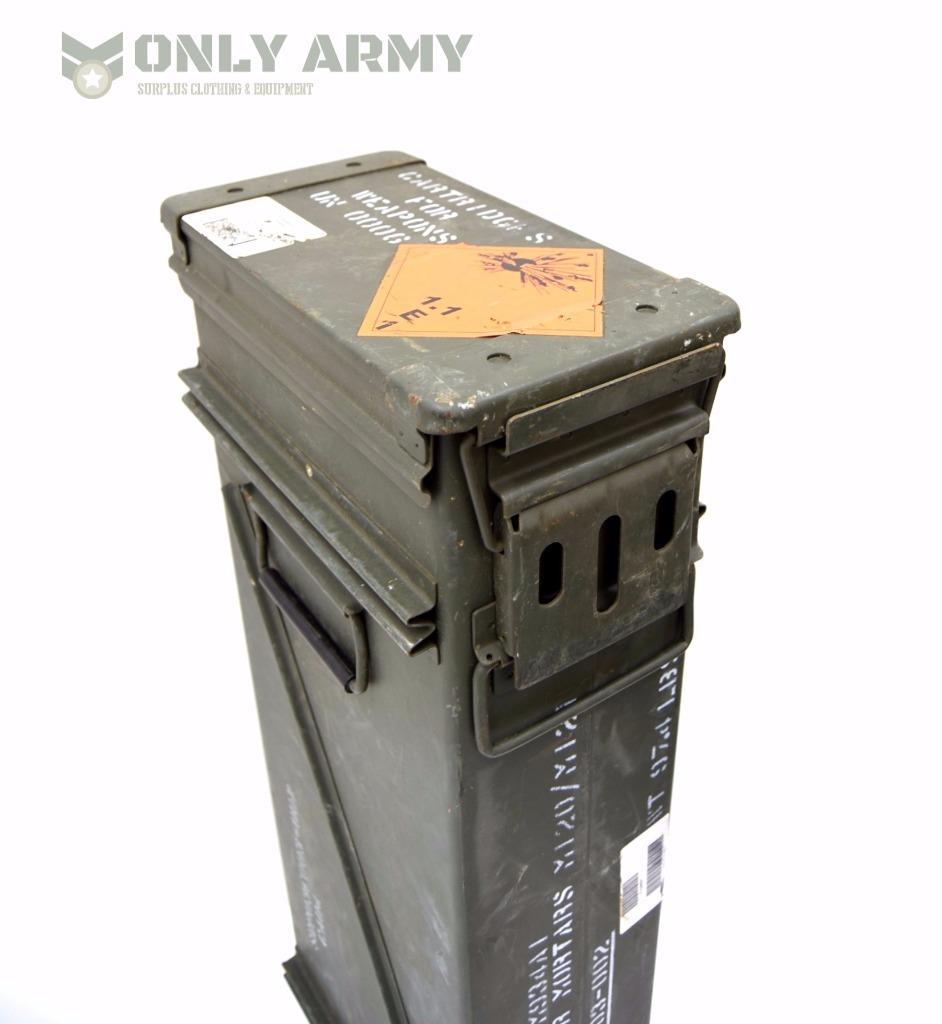 Steel Mortar Boxes : Us army large ammo tool box mortar ammunition storage