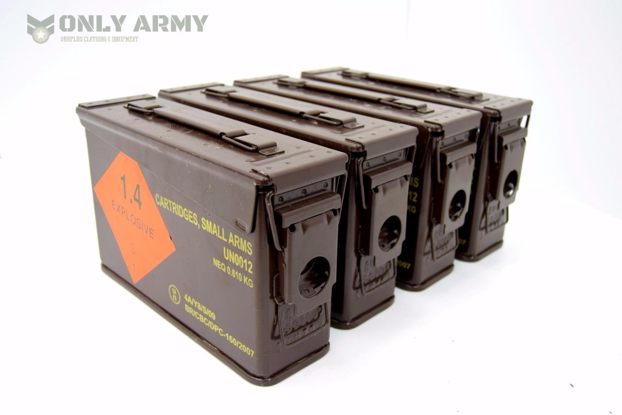 Item specifics  sc 1 st  eBay & NEW British Military 7.62 / 30Cal Tool Box Metal Ammo Box Army ... Aboutintivar.Com