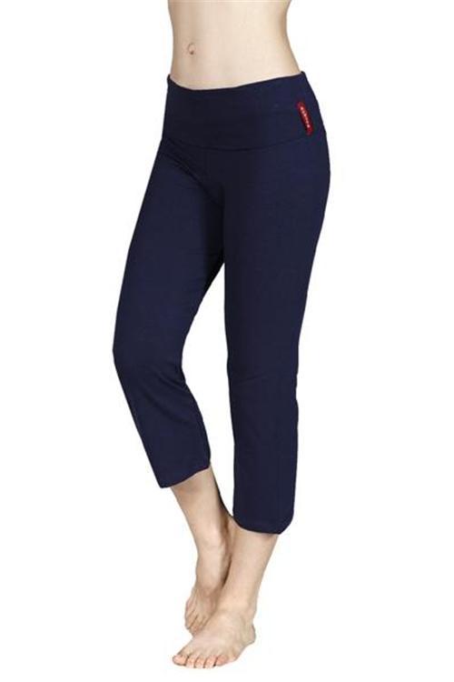New S-3XL Womens Cotton CAPRI YOGA PANTS Leggings Sweat Lounge Running Plus Size