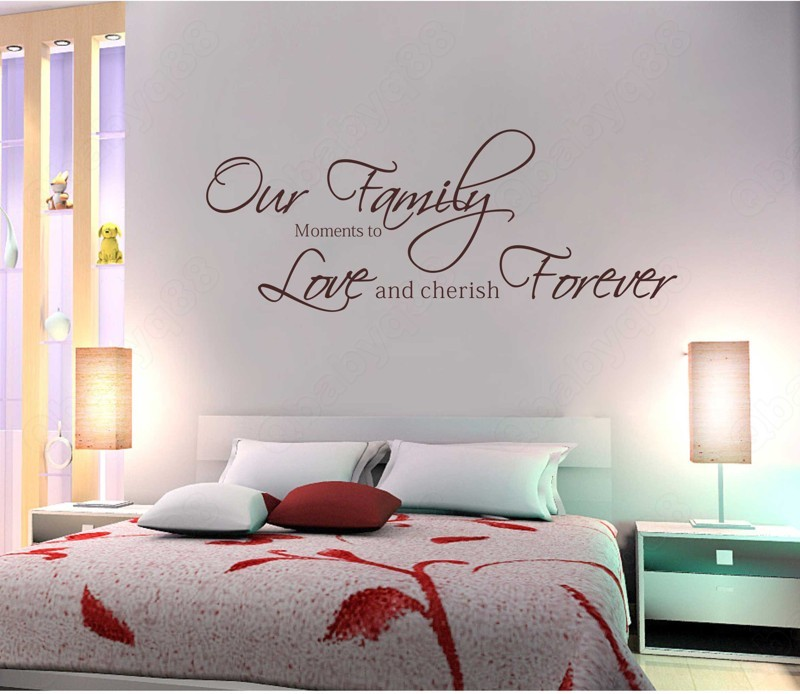 Removable Wall Art Decals Quotes : Our family wall quotes decals removable stickers decor