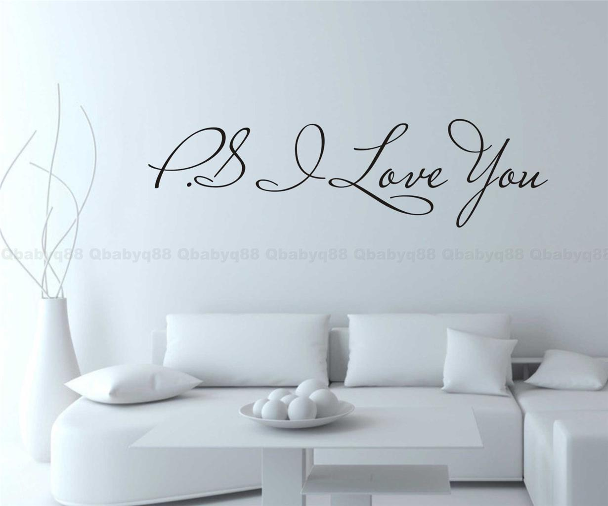 PS I love you Wall Quotes decal Removable stickers decor