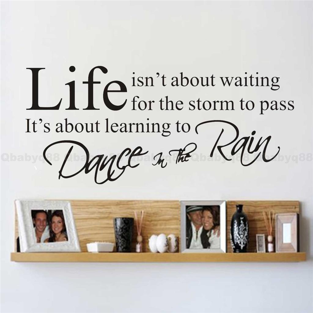 Life wall quotes decals removable stickers decor vinyl art for Living room quote stickers