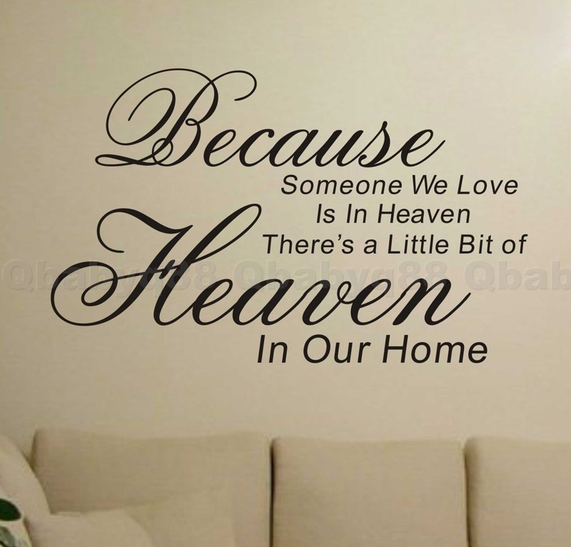 Removable Wall Art Decals Quotes : Because heaven wall quotes decals removable stickers decor