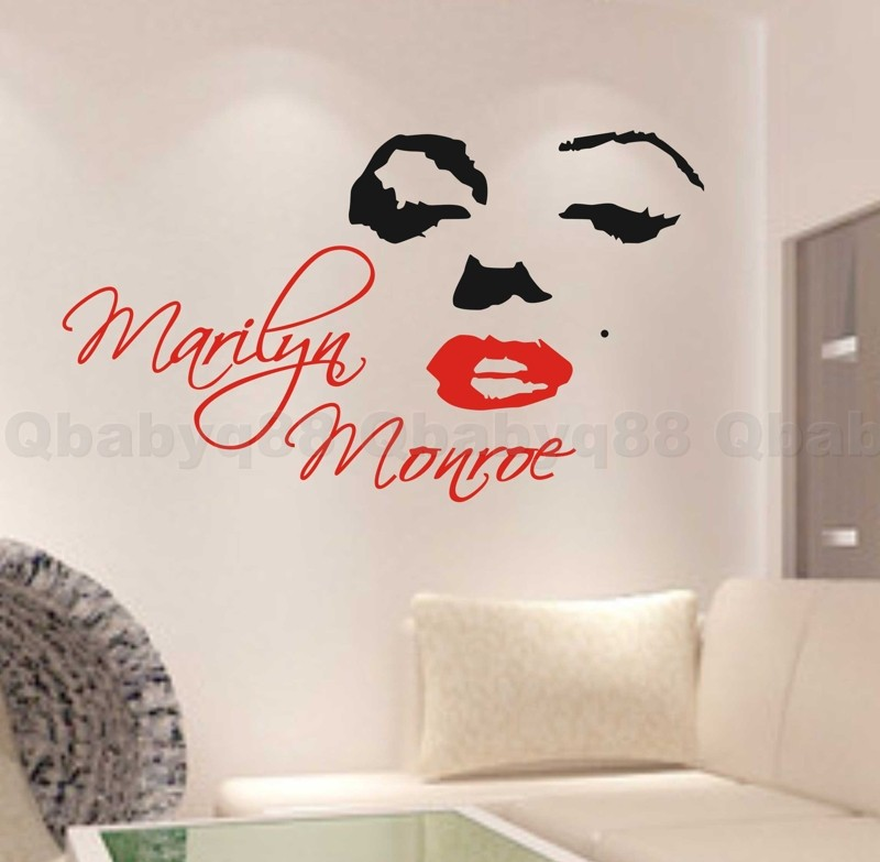 Marilyn-Monroe-Wall-Quote-decal-Removable-stickers-decor-Vinyl-DIY-home-art-gift