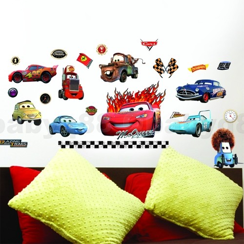 Disney car lightning mcqueen wall decals Removable stickers decor kids nursery in Baby, Nursery Decor, Wall Décor | eBay