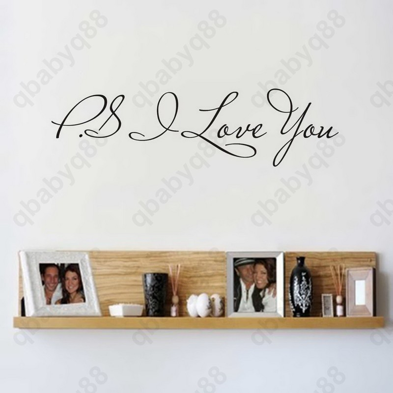 PS I love you small Wall Quotes decal Removable stickers