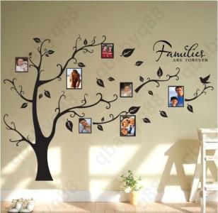 Family Tree decal vinyl Autocollant Pour IKEA ribba Box Frame