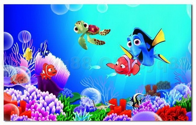 Finding nemo colorful fish wall decal removable stickers for Finding dory wall decals