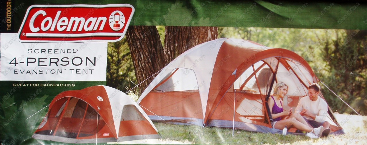 Coleman Screened 4 Person Evanston Camping Tent Great FOR ...