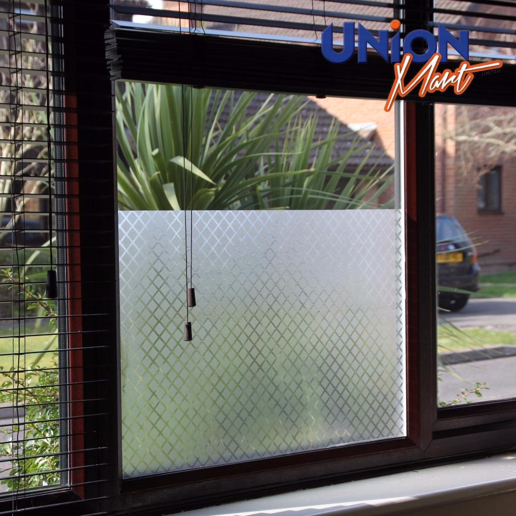 Frosted Frost Opaque Privacy Solar Window Film Sticky Backed 8 Designs Ebay