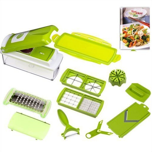 new genius nicer dicer plus as seen on tv multi chopper 2012 free shipping ebay. Black Bedroom Furniture Sets. Home Design Ideas