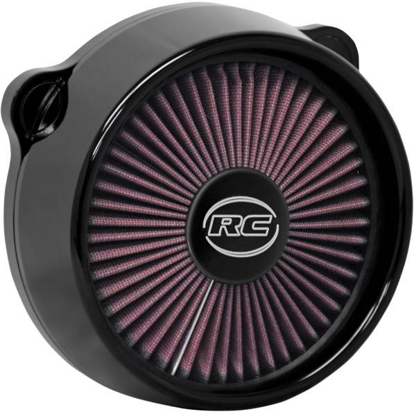 Custom Low Profile Air Cleaner : Rc black blitz truflo air cleaner kit for harley davidson